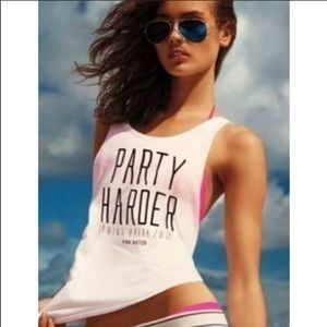 VS PINK 'Party Harder' Crop Tank Top
